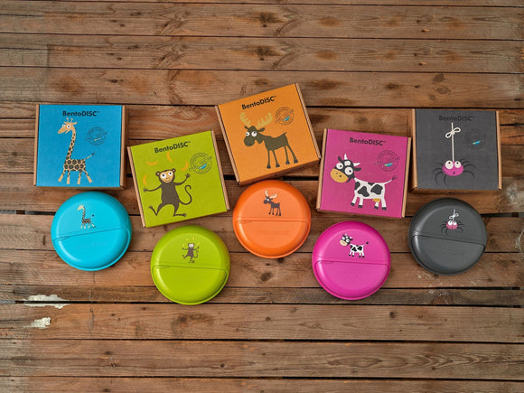 Carl Oscar Bento SnackDISC - the big turntable with 5 compartments in different colours - Lunchbox - Chnöpfli GmbH