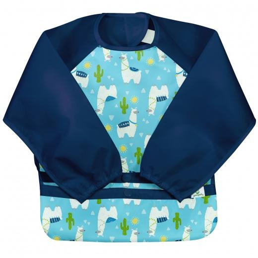Green Sprouts - Snap + Go Easy Long Sleeve Bib with Collecting Bowl - da 2 a 4 anni - Molti design diversi - Lätzli - Chnöpfli GmbH