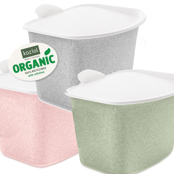 Koziol - Bibo Organic Organic Compost Waste Container with Lid - 3 Litri - Waste Container - Chnöpfli GmbH
