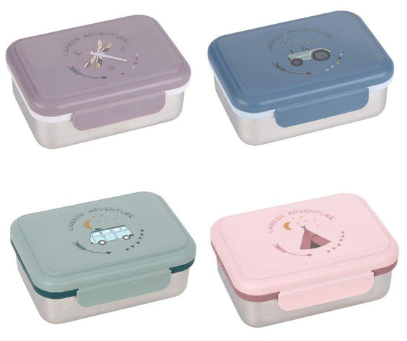 Casual stainless steel bread tin Adventure - in 4 different designs - Lunchbox - Chnöpfli GmbH