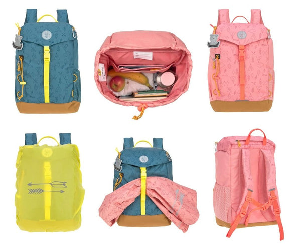 Lässig Kindergartenrucksack Outdoor - Big Backpack 14 Liter, Adventure Blau oder Rosa - Chnöpfli GmbH