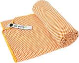 Pandoo travel towel with bamboo activated carbon fibers - Size S - Orange - Towel - Chnöpfli GmbH