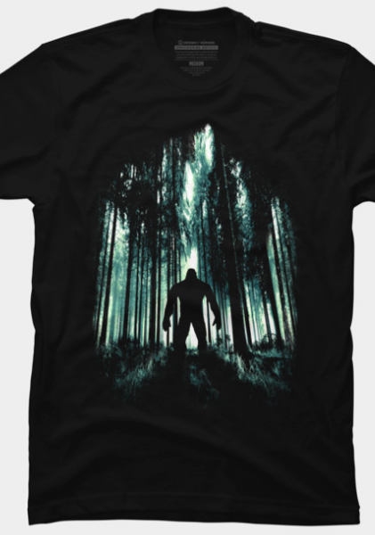 04ca63f07593 Untold Mystery by opawapo on Desings by Humans. A very nice Bigfoot Tee for  the