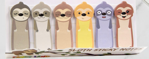 Cute Sloth Sticky Notes