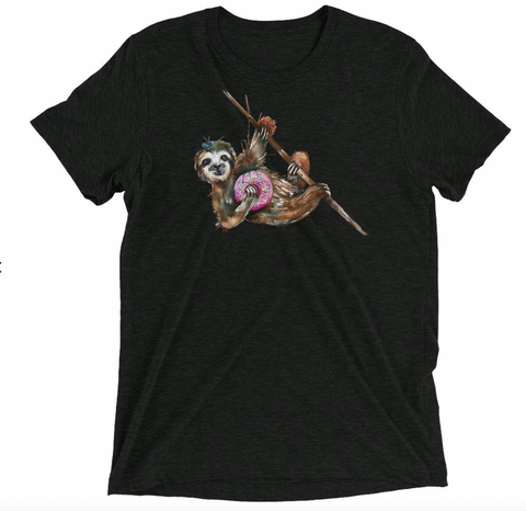 Sloth with Donut T-shirt