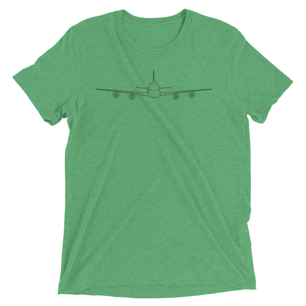 cf62f427 Airplane T-Shirt for Men and Women   Premium Triblend Fabric   Boeing 747