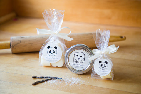 Vanilla scented owl soy candle panda wax melts