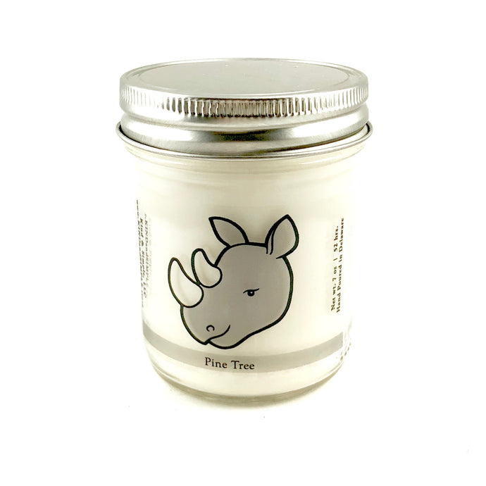 Rhino Conservation Candle | Pine Tree Scent
