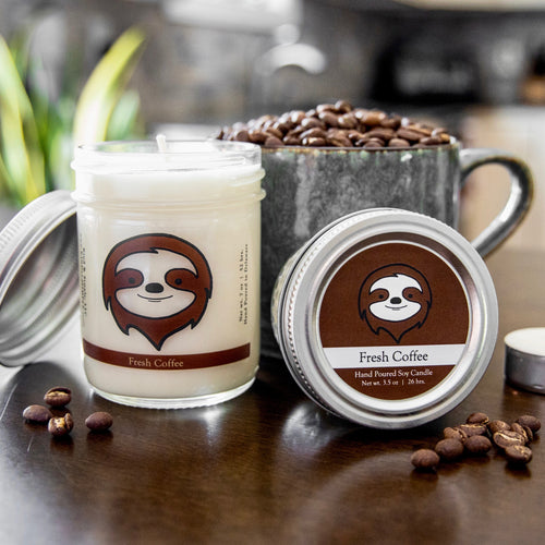 Sloth Conservation Candle | Coffee Scent