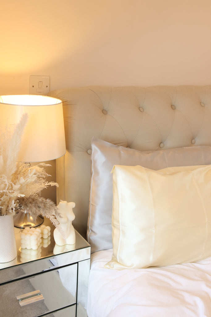 Luxury Silk Pillow case -Cream