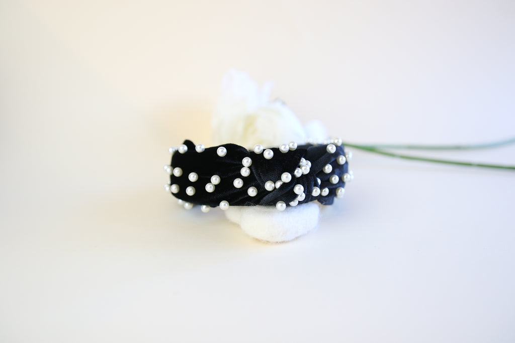 The black pearl twist headband