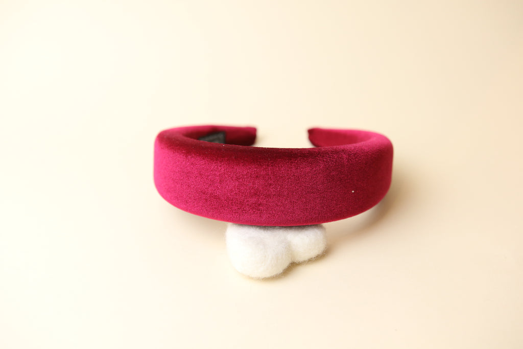 Extra thick velvet Wine Red Band