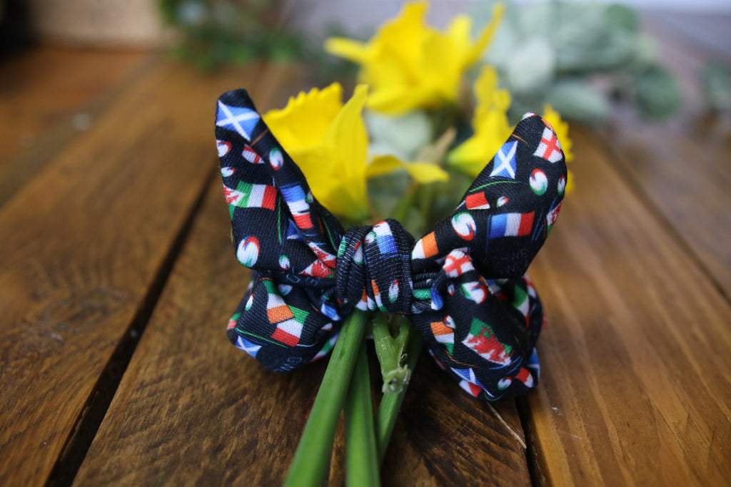 6 Nations Limited Edition Black Bunny Scrunchy