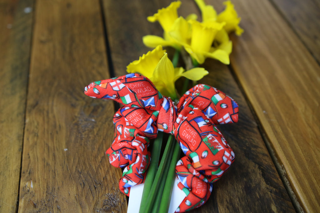 6 Nations Limited Edition Red Bunny Scrunchy