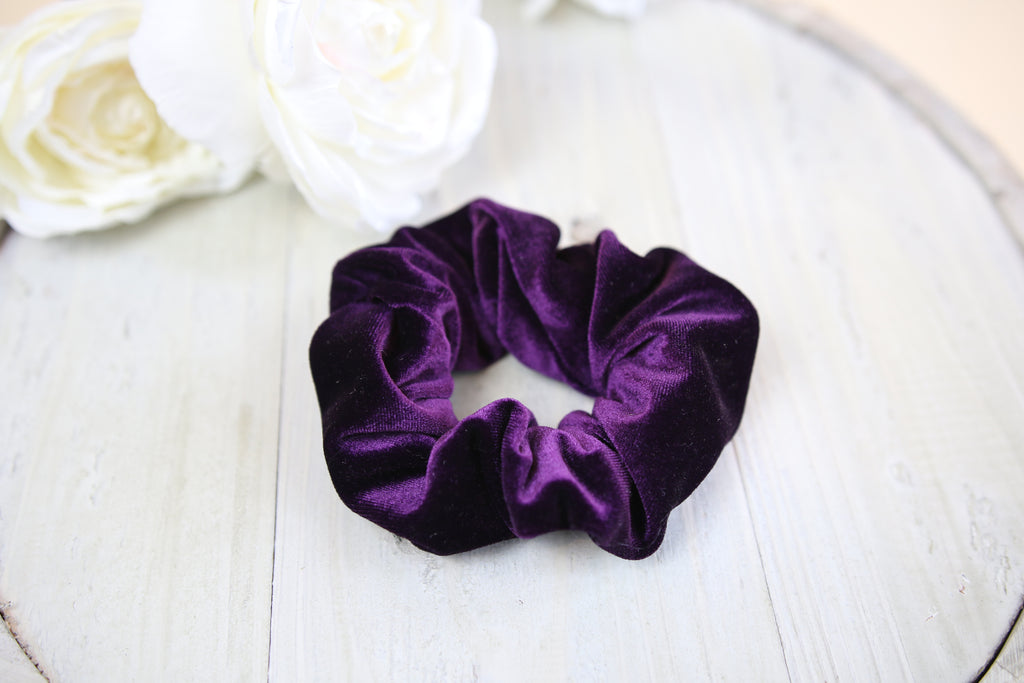 Purple Velvet Scrunchy