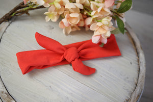 Orange Plain Tie headband