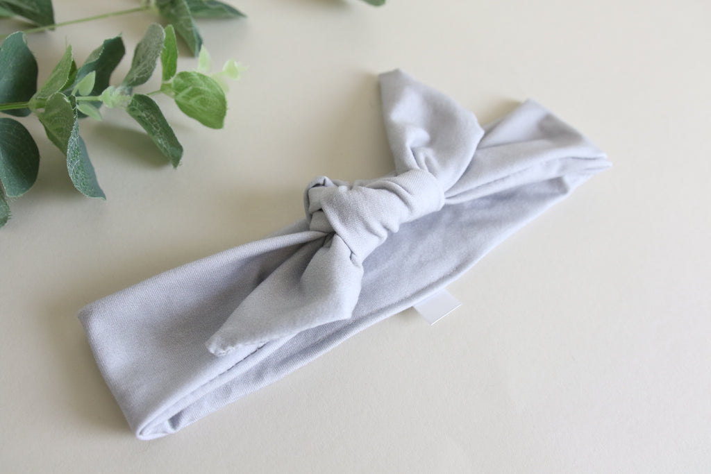 Light Grey Tie Headband