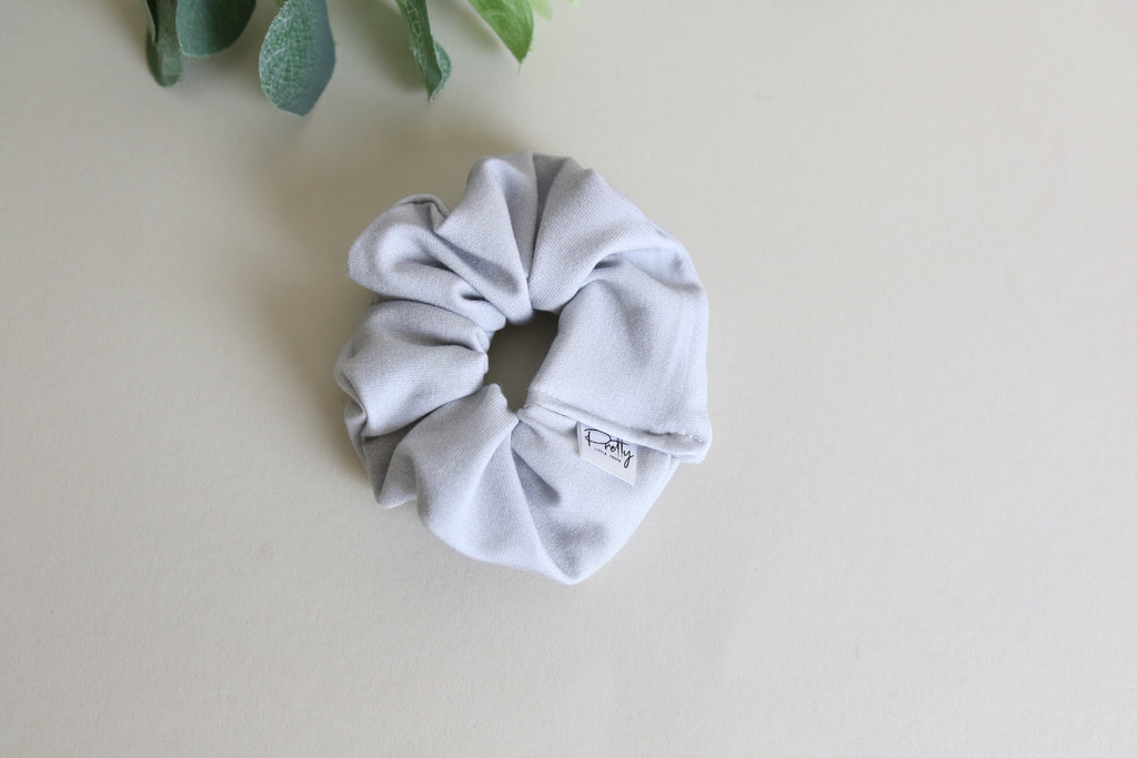 Elephant Grey mini scrunchy