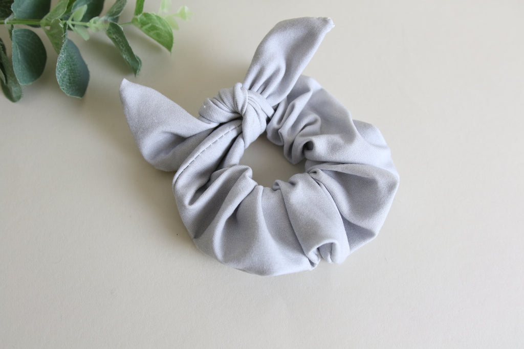 Light Grey Bunny Scrunchy