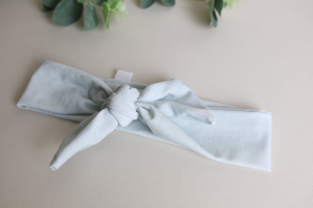 'Sea mist' Headband Tie