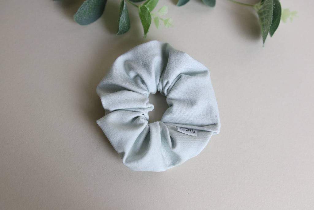 'Sea mist'  mini Scrunchy