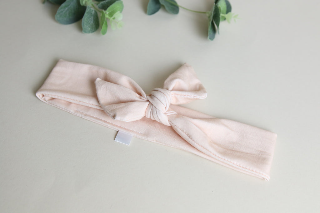 'Peach' Headband Tie - mini