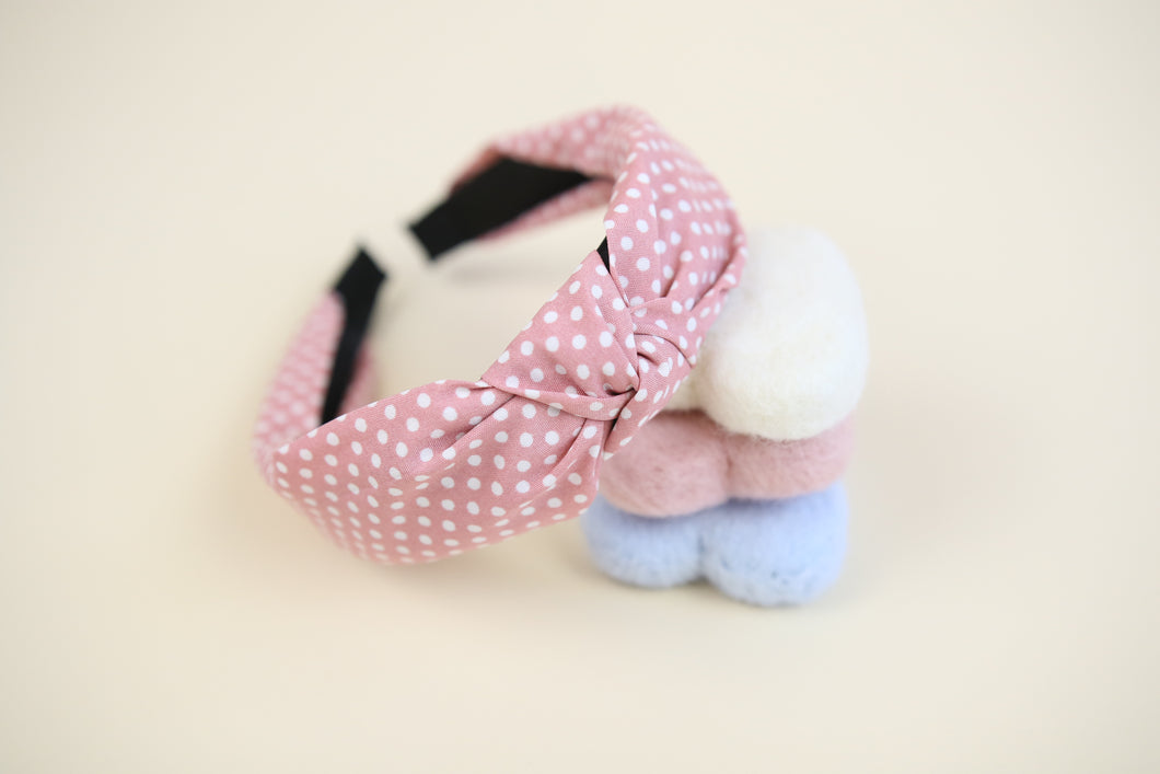 Pink 'Isabella' spotty  headband
