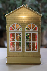 Nutcracker Suite Ballet Stage With Clara Lighted Water Lantern - 10 Inch -132271