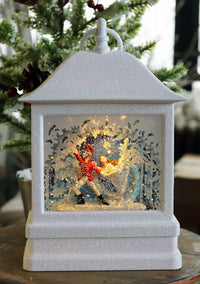 Nutcracker Suite Soldier Scene With Clara Lighted Water Lantern In Swirling Glitter - 132272 - NEW 2019
