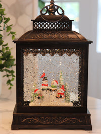 Snowmen Carolers Lighted Snow Globe With Optional Christmas Music - Timer - 2428570