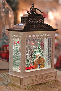 11 Inch Log Cabin  Lighted Snow Globe With Optional Music Setting Battery Operated - 2497520 NEW 2019