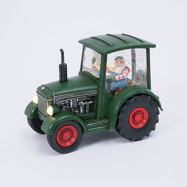 Farmer Santa In A Green Tractor Spinning Water Lantern - 2498920  - NEW 2019