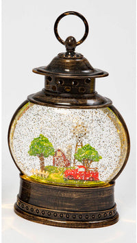 Red Truck And Barn Lighted Water Lantern with Swirling Glitter - 2519990-truck - NEW 2021