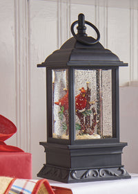9.5 Inch Lighted Cardinal Glitter Water Lantern Battery Operated - 3700784-RAZ