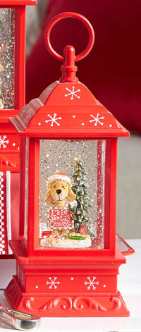 Christmas Pup Lighted Water Lantern - 9.5 Inch - 3800775