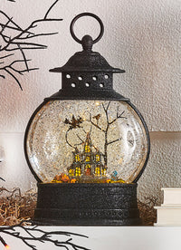 10 Inch Glitter Halloween Lighted Water Lantern Haunted House with Swirling Glitter - 3900799 - NEW 2019-RAZ