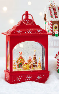 11 Inch Gingerbread Lighted Snow Globe With Swirling Glitter - 3840516-RAZ