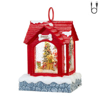Lighted Water Dog House With Snowman And Santa's Helpers Musical Snow Globe - 3900774 - NEW 2019-RAZ