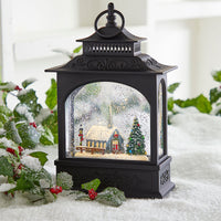 11 Inch Church Scene Lighted Water Lantern In Swirling Glitter - 3900780 - NEW 2019