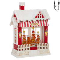 Santa's Bakery Gingerbread Family Lighted Water House Musical Lantern With Swirling Glitter - 3900792 - NEW 2019-RAZ