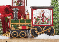 Musical Lighted Train Water Lantern Santa's List In Swirling Glitter With Optional Music Setting - 4000774 - NEW 2020