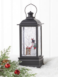 Frosty's Tree Farm Musical Lighted Water Lantern With Swirling Glitter 8.75 Inch - 4000793 - NEW 2020