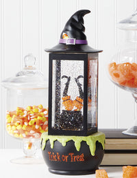 13 Inch Halloween Lighted Water Lantern Cauldron with Swirling Glitter - 4019164 - NEW 2020