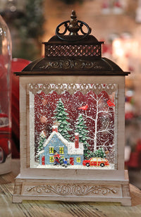 11 Inch Home For The Holidays  Lighted Snow Globe With Optional Music Setting Battery Operated - 2497520 NEW 2019