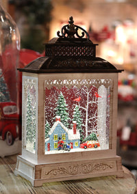 11 Inch Home For The Holidays  Lighted Snow Globe With Optional Music Setting Battery Operated - 2497520