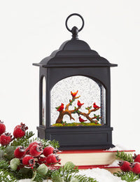 11 Inch Lighted Cardinal Glitter Water Lantern Battery Operated - 4040502 - NEW 2020