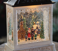 Lighted Spinning Musical Water Lantern - Carolers In The Towns Village - 2497530