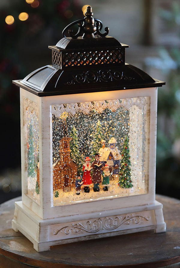 Lighted Spinning Musical Water Lantern - Carolers In The Towns Village - 2497530 - NEW 2019