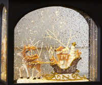 11 Inch Animals in Sleigh Lighted Snow Globe with Swirling Glitter - 3740511-RAZ