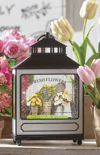 Fresh Flowers Lighted Water Lantern With Swirling Glitter Battery Operated - 4116075 New 2021